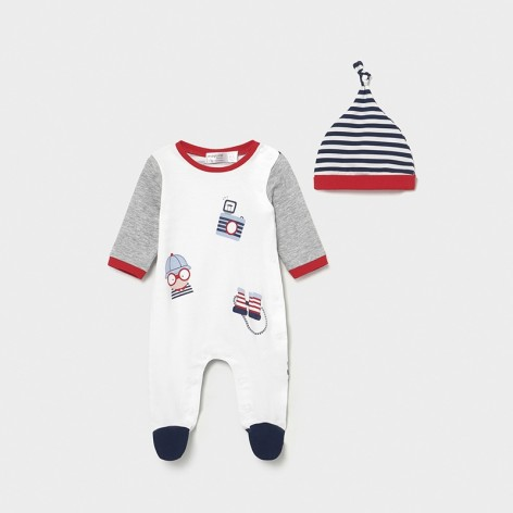 Full Length Cotton Sleepsuit With...